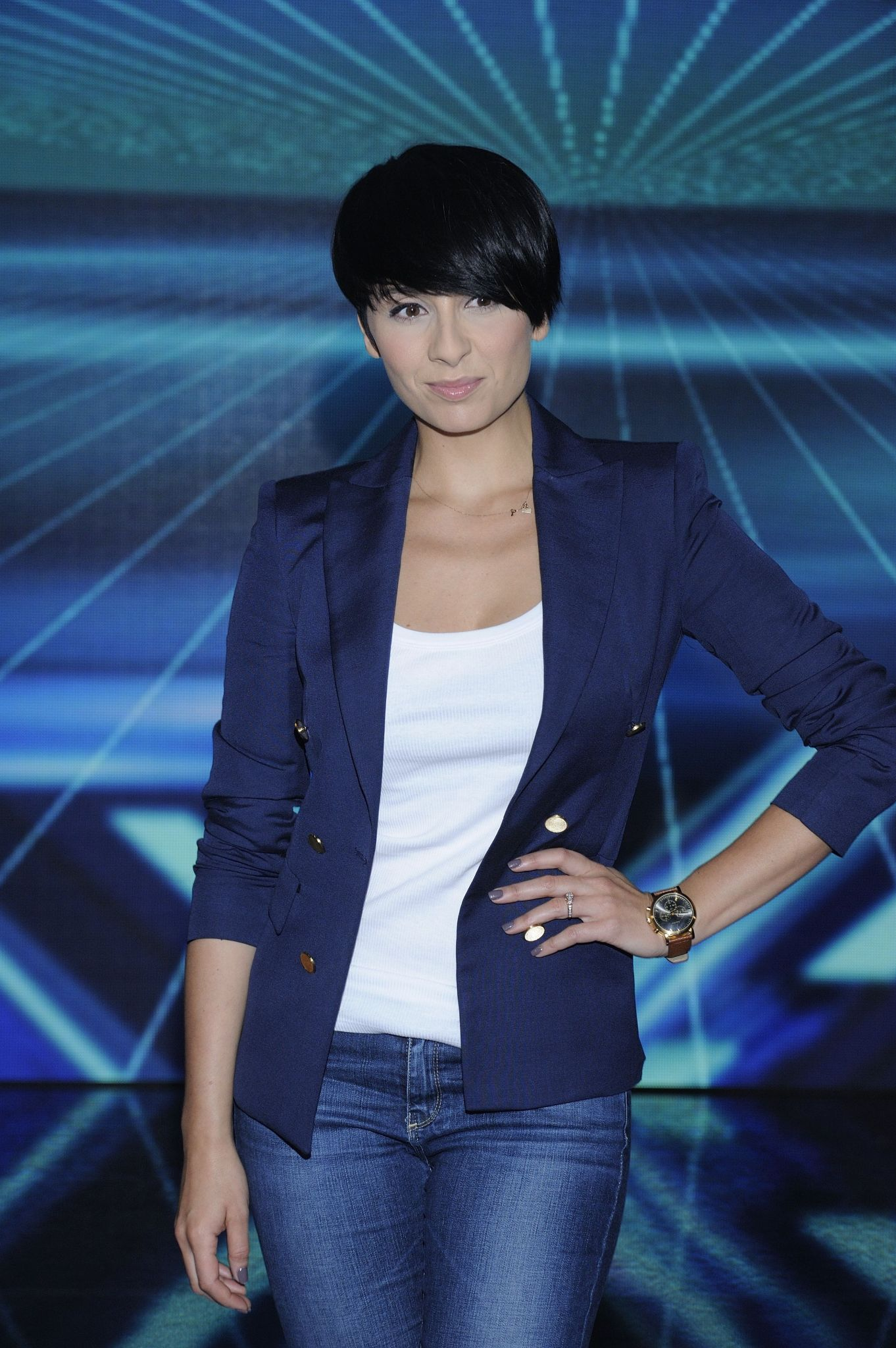 "Tatiana Okupnik na konferencji ""X Factor"""